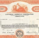 Coleccionismo Acciones Extranjeras: UNIVERSAL AMERICAN CORPORATION, 1955. Lote 120665479