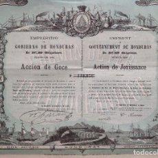 Coleccionismo Acciones Extranjeras: EMPRÉSTITO DEL GOBIERNO DE HONDURAS (1869). Lote 121519371