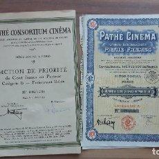 Coleccionismo Acciones Extranjeras: 2 ACCIONES PATHE CINEMA. Lote 122016495