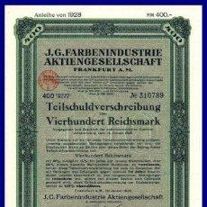Coleccionismo Acciones Extranjeras: BONO ACCION DE GUERRA TERCER REICH ALEMAN.. Lote 127174743