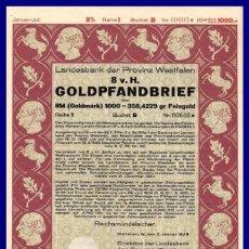 Coleccionismo Acciones Extranjeras: BONO ACCION DE GUERRA TERCER REICH ALEMAN.. Lote 127174775