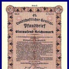 Coleccionismo Acciones Extranjeras: BONO ACCION DE GUERRA TERCER REICH ALEMAN.. Lote 127174799