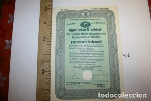 BONITA ACCION DE GUERRA TERCER REICH. ALEMANIA. (Coleccionismo - Acciones Extranjeras )