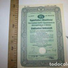Coleccionismo Acciones Extranjeras: BONITA ACCION DE GUERRA TERCER REICH. ALEMANIA.. Lote 127599215