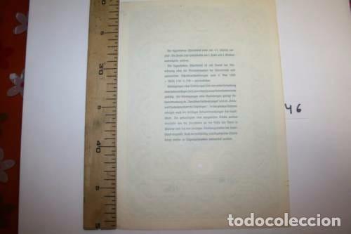 Coleccionismo Acciones Extranjeras: BONITA ACCION DE GUERRA TERCER REICH. ALEMANIA. - Foto 3 - 127599215