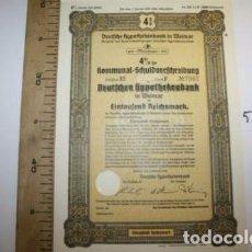 Coleccionismo Acciones Extranjeras: BONITA ACCION DE GUERRA TERCER REICH. ALEMANIA.. Lote 127599251