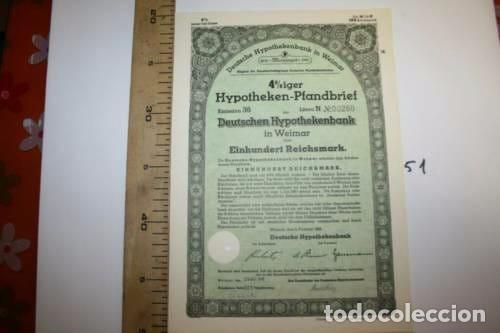 BONITA ACCION DE GUERRA TERCER REICH. ALEMANIA. (Coleccionismo - Acciones Internacionales)