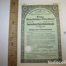 Coleccionismo Acciones Extranjeras: BONITA ACCION DE GUERRA TERCER REICH. ALEMANIA.. Lote 127599275
