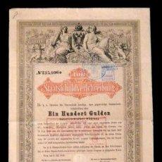 Coleccionismo Acciones Extranjeras: ACCION HOLANDESA ANTIGUA CON CUPONES 1865... Lote 128075303