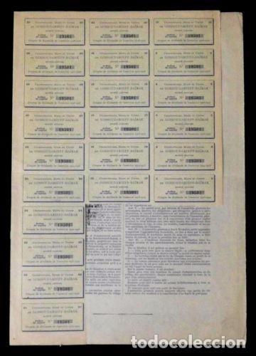 Coleccionismo Acciones Extranjeras: ACCION FRANCESA ANTIGUA CON CUPONES 1899.. - Foto 2 - 128075459