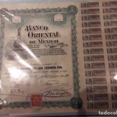 Coleccionismo Acciones Extranjeras: ACCION BANCO ORIENTAL DE MÉXICO.1900. Lote 145005978
