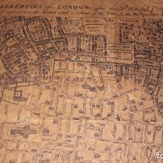Coleccionismo Acciones Extranjeras: LOTE DOS MAPAS-PLANES DEL AÑO 1700 APROX.. VER FOTOS. Lote 147563598