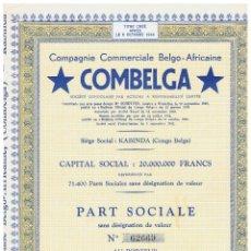 Coleccionismo Acciones Extranjeras: COMBELGA. Lote 148056414