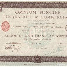 Coleccionismo Acciones Extranjeras: OMNIUM FONCIEER. Lote 148056578