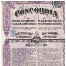 Coleccionismo Acciones Extranjeras: CONCORDIA. Lote 148057174