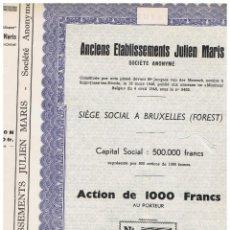 Coleccionismo Acciones Extranjeras: ANCIEN ESTABLISSEMENTS JULIEN MARIS. Lote 148057542