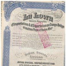 Coleccionismo Acciones Extranjeras: LA LOWA 1929. Lote 148057634