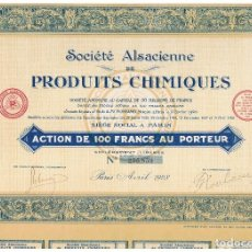 Coleccionismo Acciones Extranjeras: SOCIETE ALSACIENE DE PRODUITS CHIMIQUES. Lote 148057778