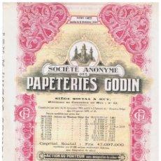 Coleccionismo Acciones Extranjeras: PAPETERIES GODIN. Lote 148059090