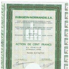 Coleccionismo Acciones Extranjeras: DUBIGEON NORMANDIE. Lote 148059242