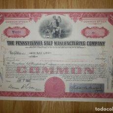 Coleccionismo Acciones Extranjeras: ACCIÓN - THE PENNSYLVANIA SALT MANUFACTURING COMPANY - 1950 - CINCO PARTICIPACIONES -. Lote 148112238