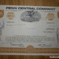 Coleccionismo Acciones Extranjeras: ACCIÓN - PEN CENTRAL COMPANY - 1973. Lote 148113202
