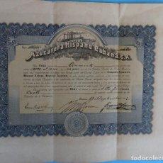 Collezionismo Azioni Internazionali: ACCION AZUCARERA HISPANO CUBANA , CUBA , 1917 , ORIGINAL , J. Lote 149357786