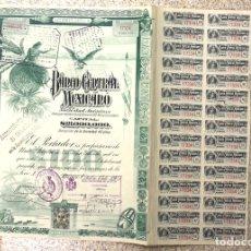 Coleccionismo Acciones Extranjeras: ACCION BANCO CENTRAL MEXICANO. MEXICO D.F., 15 DE OCTUBRE DE 1905. Lote 153204581
