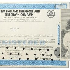 Coleccionismo Acciones Extranjeras: USA N.ENGLAND TELEPHONE & TELEGRAPH 1969 . Lote 155472370