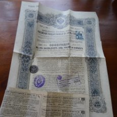 Coleccionismo Acciones Extranjeras: EMPRUNT ETAT RUSSE 5% 1906, OBLIGACIÓN GOBIERNO ZARISTA, SELLOS ESPAÑOLES. Lote 157913490