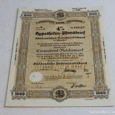 Coleccionismo Acciones Extranjeras: OBLIGACIONES DE HYPOTHEKEN PFABDBRIEF DE MUNICH,1941.. Lote 159436526