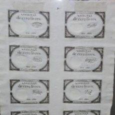 Coleccionismo Acciones Extranjeras: CONJUNTO DE 10 ASSIGNATS. 1793.. Lote 96153127