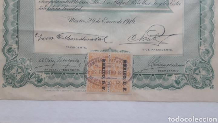 Coleccionismo Acciones Extranjeras: ACCIONES COMPAÑIA PETROLERA, EL TRIUNFO - Foto 3 - 161532589