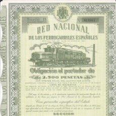Collectionnisme Actions Internationales: ACCION RED NACIONAL DE LOS FERROCARRILES ESPAÑOLES MADRID ENERO 1953. Lote 162587198