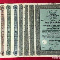 Coleccionismo Acciones Extranjeras: LOTE ORIGINAL DE BONOS, PAGARÉS, VALORES, ACCIONES... ALEMANES EMITIDOS EN EL TERCER, REÍCH. Lote 163578058
