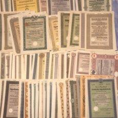 Coleccionismo Acciones Extranjeras: DEUTSCHE REICH, LOTE DE 286 ACCIONES ALEMANAS, IMPERIO ALEMAN HASTA TERCER REÍCH. Lote 163628586