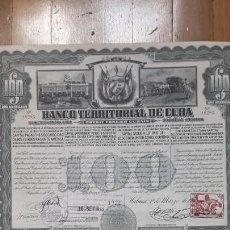Collectionnisme Actions Internationales: BANCO TERRITORIAL DE CUBA (1911). Lote 164750154