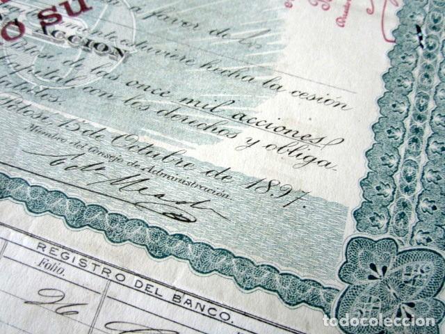 Coleccionismo Acciones Extranjeras: ACCIÓN BANCO DE SAN LUIS POTOSÍ. MÉXICO, AÑO 1897. CON CUPONES. MUY RARA. - Foto 3 - 166170290