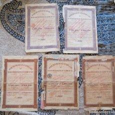 Coleccionismo Acciones Extranjeras: SOCIÉTÉ BRUXELLOISE DE CULTURES A JAVA. Lote 172707397