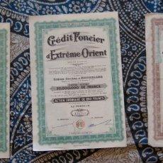 Coleccionismo Acciones Extranjeras: CRÉDIT FONCIER D'EXTRÉME ORIENT 1944. Lote 172707472