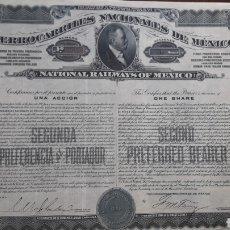 Coleccionismo Acciones Extranjeras: FERROCARRILES NACIONALES DE MÉXICO (1910). Lote 175980860