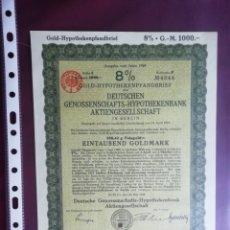 Colecionismo Ações Internacionais: ALEMANIA. GOLD HYPOTHEKENPFANDBRIEF 1924. DEUTSCHE GENOSSENSCHAFTS-HYPOTHEKENBANK. Lote 177765117