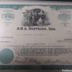 Coleccionismo Acciones Extranjeras: ACCION ARA SERVICES INC. AÑO 1972. Lote 178360463