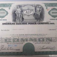 Coleccionismo Acciones Extranjeras: AMERICAN ELECTRIC POWER COMPANY AÑO 1969. Lote 178362198