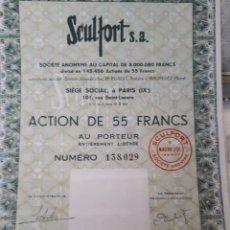 Coleccionismo Acciones Extranjeras: ACCION SCULFORT S.A. AÑO 1963. Lote 178365386
