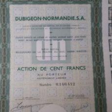 Coleccionismo Acciones Extranjeras: ACCION DUBIGEON NORMANDIE S.A.. Lote 178365536