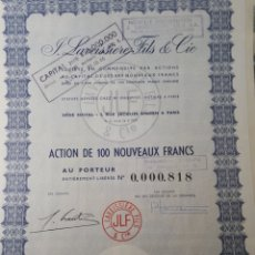Coleccionismo Acciones Extranjeras: ACCION J.LAVEISSIERE FILS S.A. AÑO 1979. Lote 178365986