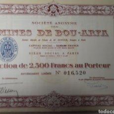 Coleccionismo Acciones Extranjeras: ACCION MINES DE BOU ARFA. Lote 178379471