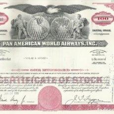 Coleccionismo Acciones Extranjeras: 100 ACCIONES PAN AMERICAN... 1966. Lote 182828858