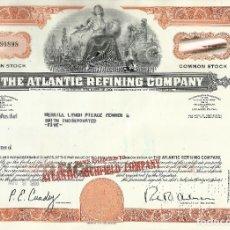 Coleccionismo Acciones Extranjeras: 100 ACCIONES - THE ATLANTIC REFINING COMPANY - 1966. Lote 182829647